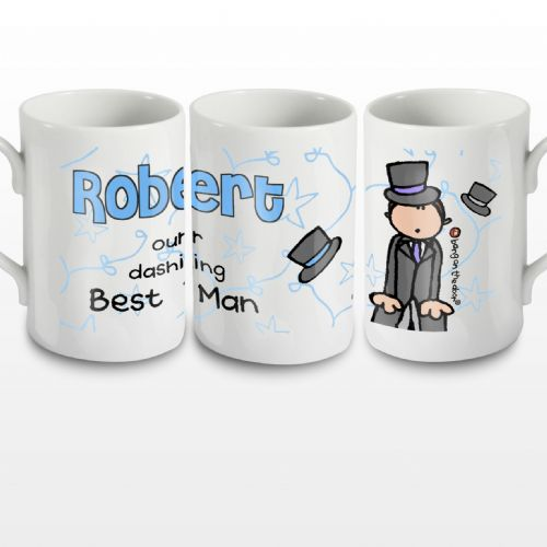 Personalised Bang on the Door Wedding Male Mug